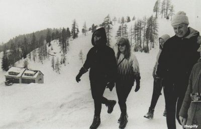 Baby It's Cold Outside,..February 1965 - John and Cynthia on a skiing trip to St. Moritz (Austria) with George Martin and his girlfriend Judy