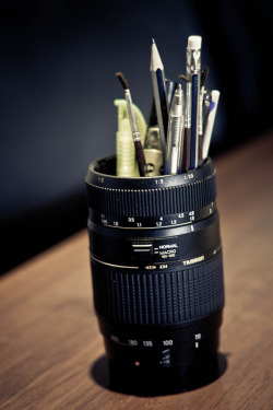 cameracadets:  Tamron 70-300 Pen Holder (DiY) by h0bbel on Flickr.