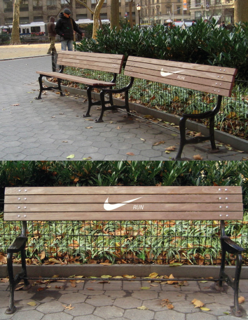 Motivational Nike bench by Annie Chiu