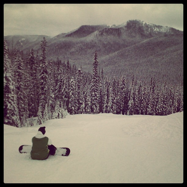 Being alone ain't always a bad thing.. #snow #mountains #BC (Taken with instagram)