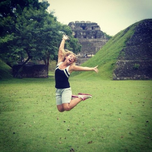 The joy of being at Xunantunich! via @_TheFitchuation  * Xunantunich archaeological site is located in the Cayo district and has many unique qualities. The main temple, El Castillo is one of the highest structures in Belize, you must cross a hand-cranked ferry to get there, and you can withness a freeze with Maya hieroglyphs.