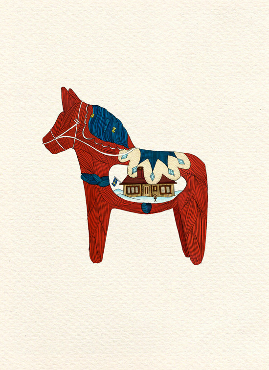 The Dala horse (Dalahäst)!Reppin' some Swedish pride while I'm over here.