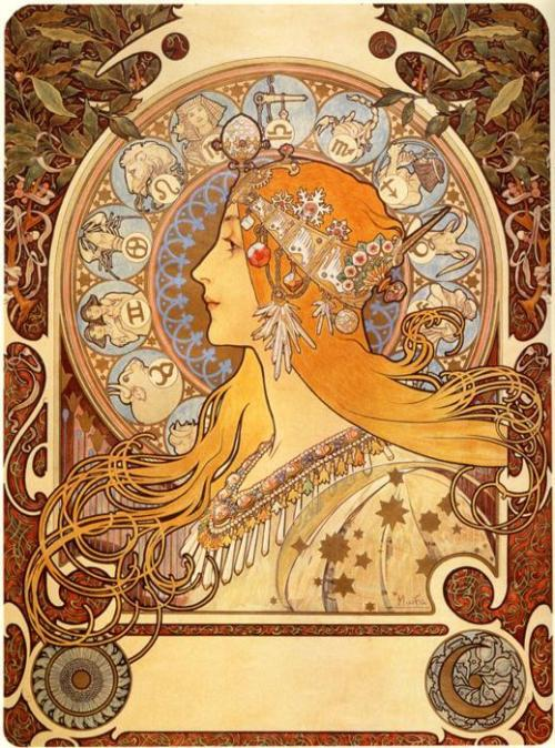 k3rryl33:  ocelott:  Alphonse Mucha  so pretty.