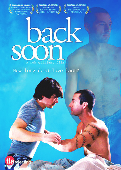 Back Soon is a tender, sexy drama that explores the depths of love, loss, identity and hope. Still grieving his wife's death, aspiring actor Logan (Windham Beacham) is inexplicably drawn to reformed drug dealer Guillermo (Matthew Montgomery, Gone, But Not Forgotten). While neither are gay, the pair are baffled when their friendship blossoms into more. But as their relationship deepens Guillermo's mysterious past erupts and a startling revelation about the true nature of their connection threatens to destroy it and change their lives forever. Watch it here
