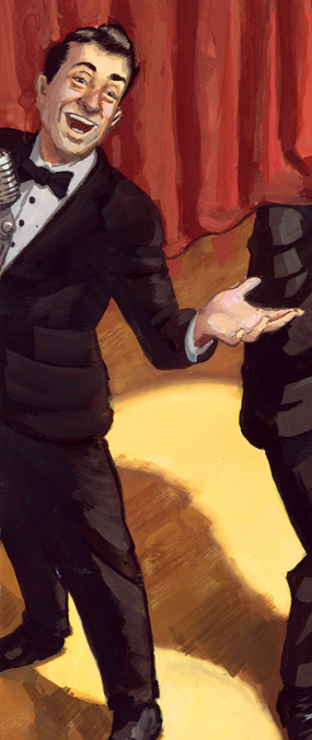 Small crop preview of Stage Fright, showing tomorrow! 10x14, Gouache on Watercolour paper.JORI BOLTONwww.joribolton.com
