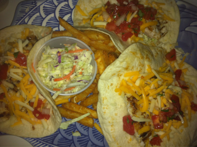 Grilled black grouper tacos from The Fish House in Fort Myers, FL