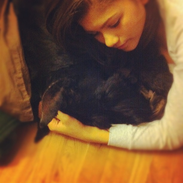 @Zendaya96 and her big baby :) arent they so cute?