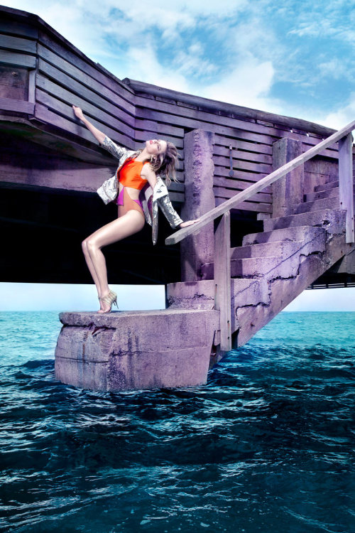 Elle Brazil, January 2012 photographer: Manuel Nogueira Martha Streck this water Martha Streck by Manuel Nogueira for Elle Brazil January 2012