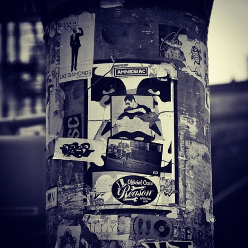 Andre the Giant is watching you! #obey (Taken with instagram)