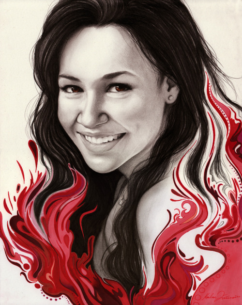"marziiporn:  Naya Rivera commissiongraphite and markers 11""x14"""