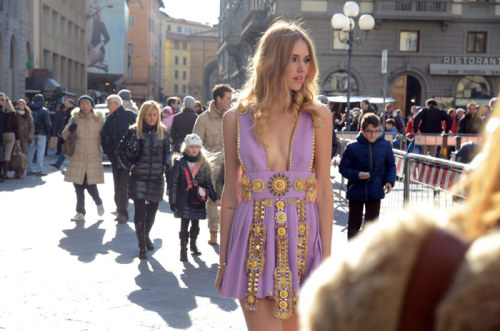 Chiara Ferragni in Fausto Puglisi for Firenze4Ever stylelab by Luisaviaroma.