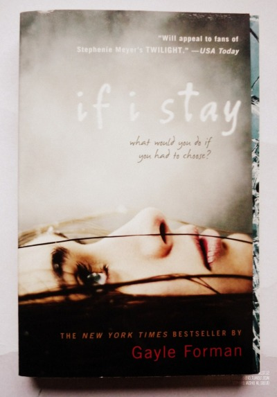 CURRENTLY reading this book on pg. 83 :) DAY 7/366: If I Stay by Gayle Forman  Today, I got the chance to grab this book from Fully Booked, Bonifacio High Street. This is actually part of my Either-Read-Or-Die List. I'm just so ecstatic to read this and its sequel! That is, I just have to finish Submarine first and Little Women.