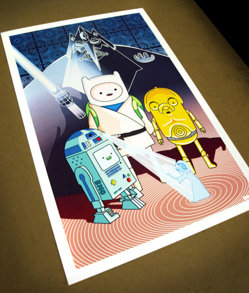 "Adventure Time ""You're My Only Hope"" fan art poster."