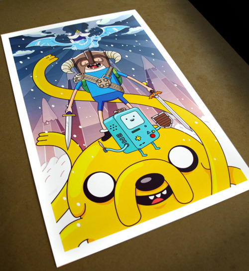 NEW! Adventure Time x Skyrim fan art poster.