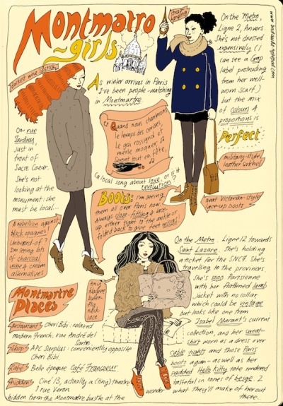 (via HiP Paris Blog » Paris Winter Fashion: The Girls of Montmartre)