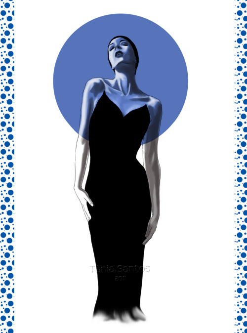 """Black dress""  Fashion illustration from some months ago all done in Photoshop CS5. 2011"