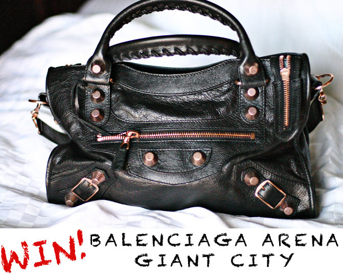 Want to win this awesome Balenciaga bag with retail value of $1895? Then visit this blog. Reblog if you like =)