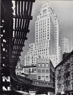 silfarione:  ITT Building and 3rd Avenue. May 1944, NYC by Andreas Feininger
