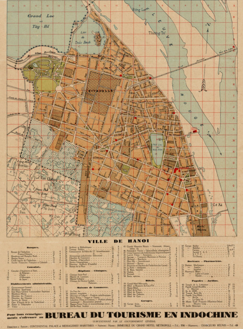 cartographymaps:  Unknown, 1925, City Plan for Hanoi, Vietnam