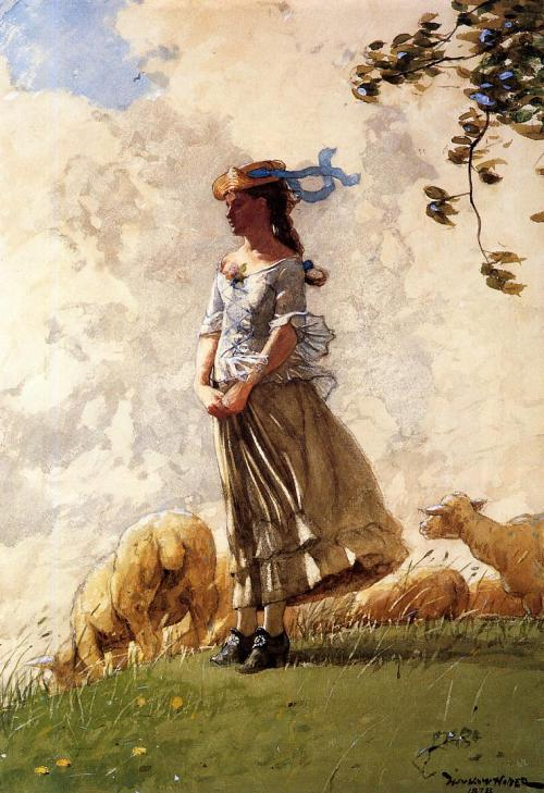 windypoplarsroom: 1878 Winslow Homer (American Landscape, 1836-1910) ~ Fresh Air