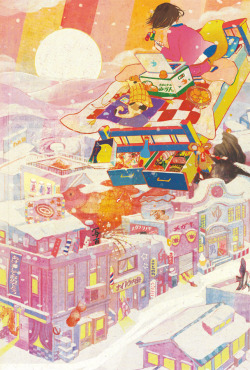 『2012 New year's card』 (illustration by Isako Kubo)