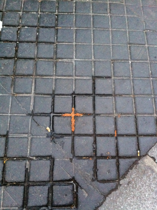 Cross of poop