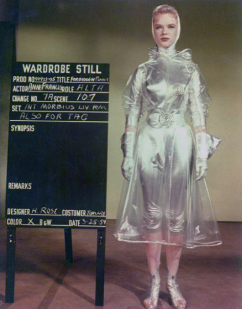 hollyhocksandtulips:  Anne Francis, wardrobe check for Forbidden Planet