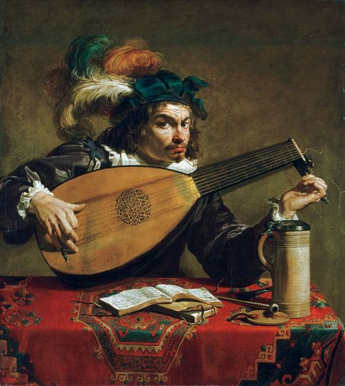 missfolly:  A Lute Player, ca. 1620, by Theodoor Rombouts