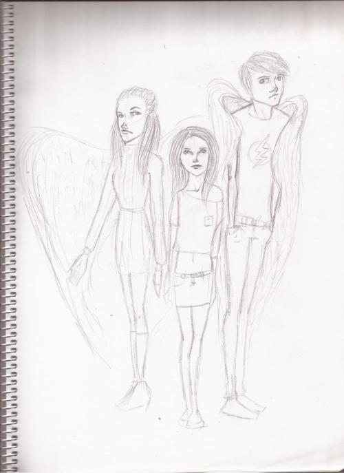 Rachel, Blair and Nick, from my angels story. The three of them can/could see the future. Blair is the only one alive, and phrofets are a weird kind of Chosen because most end or crazy or dead, like Rachel and Nick. Rachel was a rich kid but when her vision started her parents tought she gone mad and send her to an alisyum, where she killed herself. Nick, was a shy guy, never got himself into troubles, except for his drawings, tetric drawings of warth and death, drawings of angels and demons. Everyday his visions gone worse and decided to kill himself too.