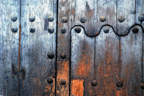 Rustic blue door, Antigua, Guatemala. by Robert Crum on Flickr.
