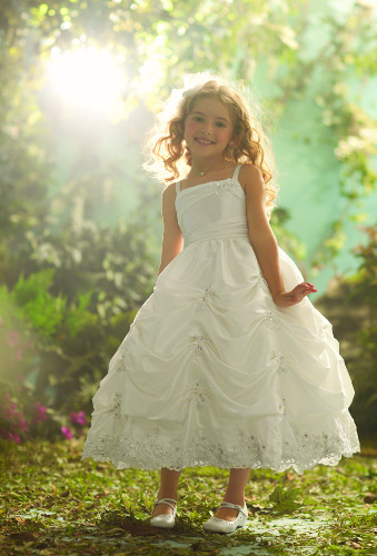 following with Alfred Angelo Disney Bridal Collection: Ariel's blossom-girl.