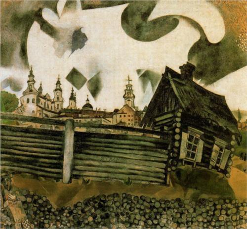 The House in Grey (1917) – Marc Chagall