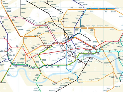 Is this an improvement, or an evolution?  see www.london-tubemap.com for more.