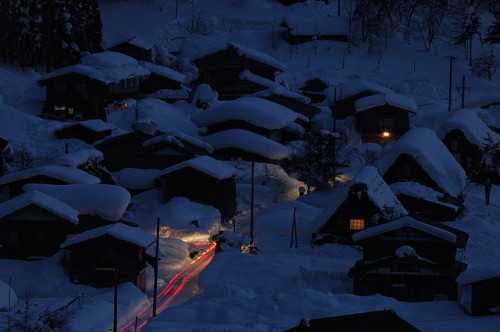 Shirakawa, Japan by Toshinobu