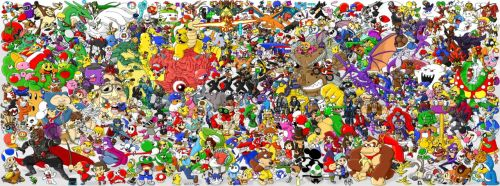Nintendo Collage - Find all of the characters!