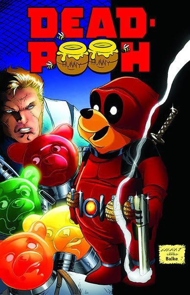 iamthedeadpool:     Antartic Press is releasing a Deadpool/Winnie-the-Pooh parody comic called Dead Pooh. The comic is a one-shot and is scheduled to come out 3/21/2012. Thanks to PoolFan for the tip. Trash-collecting bear by day, crime-fighting martial artist by night. Dead Pooh protects the citizens of Woodland City from the menace of the Candy King. In the best traditions of parady, Comi-Kazi presents the latest hero to arise to confront the forces of darkness for truth, justice…and a jar of honey!     Wow Will it's like your dream come true.