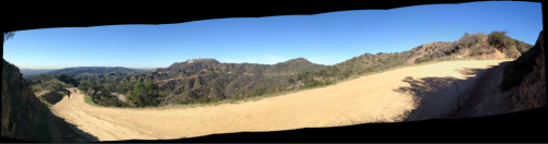 I took this panorama while hiking through Griffith Park the other day.