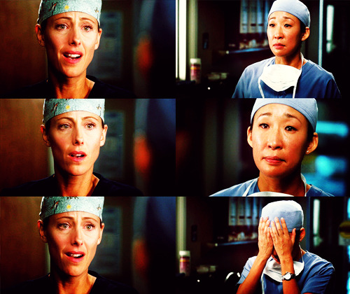 attachment-barbie:   TEDDY: What's up? You okay?CRISTINA: When we brought your husband into the O.R., we originally thought we could go in with a bronchoscope and a laser, however, there was a lot of bleeding, so we had to open him up. TEDDY: Wait. You— you— wait. No. Owen said that—CRISTINA: When we opened him up, we saw that the tumour had eroded his pulmonary artery. Dr. Webber and I both used extraordinary measures.TEDDY: No.CRISTINA: But we—TEDDY: Uh, no. No, no.CRISTINA: We used extraordinary measures, but his heart could not tolerate the excessive bleeding.TEDDY: No. CRISTINA: He did not survive the surgery. I'm sorry. TEDDY: You're saying… (voice breaking) You're saying, he's dead. CRISTINA: Yes. TEDDY: Say it. CRISTINA: Teddy… TEDDY: When you inform the family, you have to say it so that they know that it's really happening. It's the first thing that you're taught. I never really thought about it… But now I get it and, um… Cristina… I need you… I need you to say it. CRISTINA: Henry is dead. TEDDY: Thank you.     grey's anatomy | suddenly (8.10)