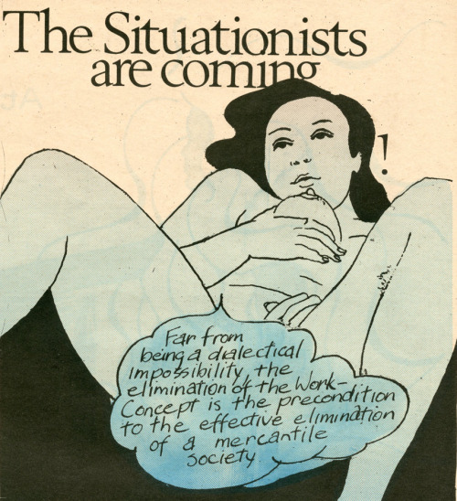 "kvetchlandia:  Angelo Quattrocchi     The Situationists Are Coming, from ""Oz"" Magazine, London     1969"