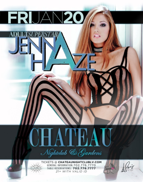 jennarationx:  I am hosting a party in Las Vegas, NV  January 20th 2012 at Chateau! Can't wait!!! Gonna be a crazy fun night!