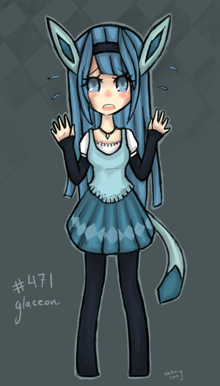 Glaceon Gijinka for PokeTown.