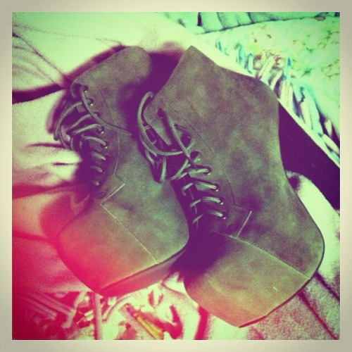 my new jeffrey campbell's. #obsessed (Taken with instagram)