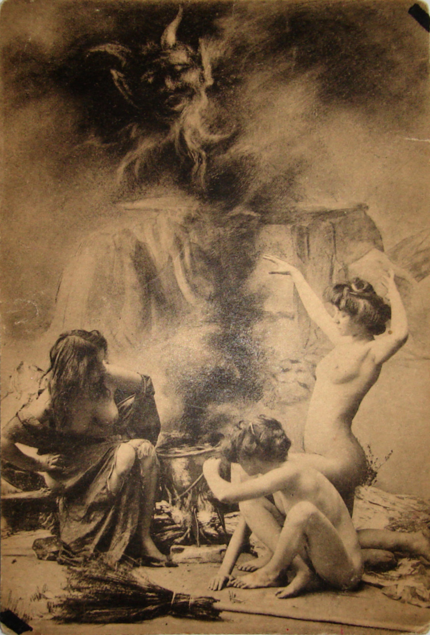 Witches Sabbat in Paris, 1910.