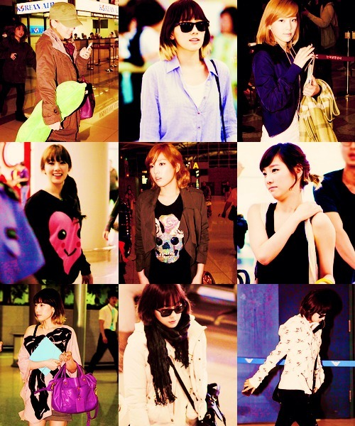 shineeworldbr:  ● 6/9 Taeyeon (SNSD) favorite airport outfits (requested by raawringraawr)