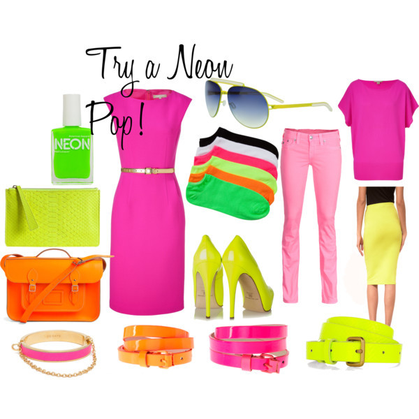 Neon by meljparrish featuring a skinny belt