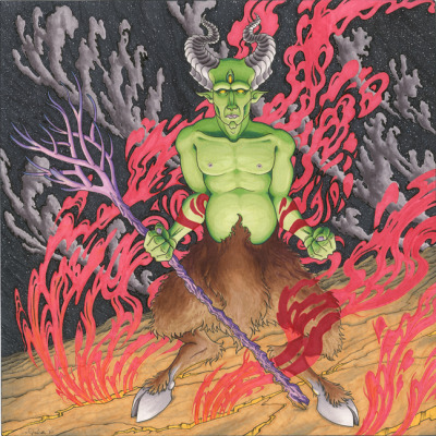 """greetings mortals"" 12"" x 12"" prismacolor markers   2011"