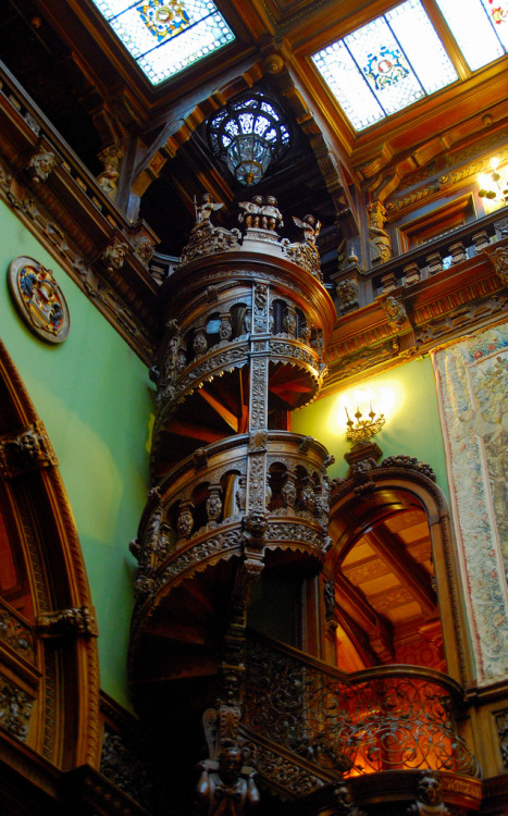fahrenart:  Peles castle (above) in Romania.  REAL Old World interior.