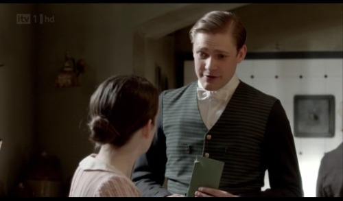 Another amusing Downton Abbey Tumblr downtonabbeylamps:  Season two, episode two.  Another lamp stealthily watches Daisy and William from the shadows.  The lamps of Downton Abbey: officially shipping Daisy/William.