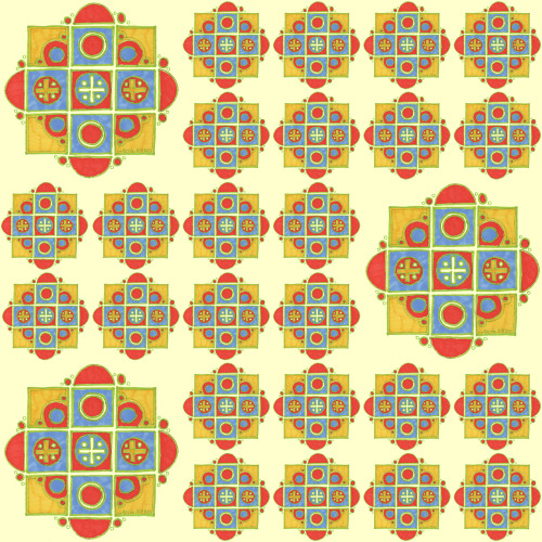 Yellow No.2 (Perfect Square Collection) by AnitaNH. Available on fabric at Spoonflower.com