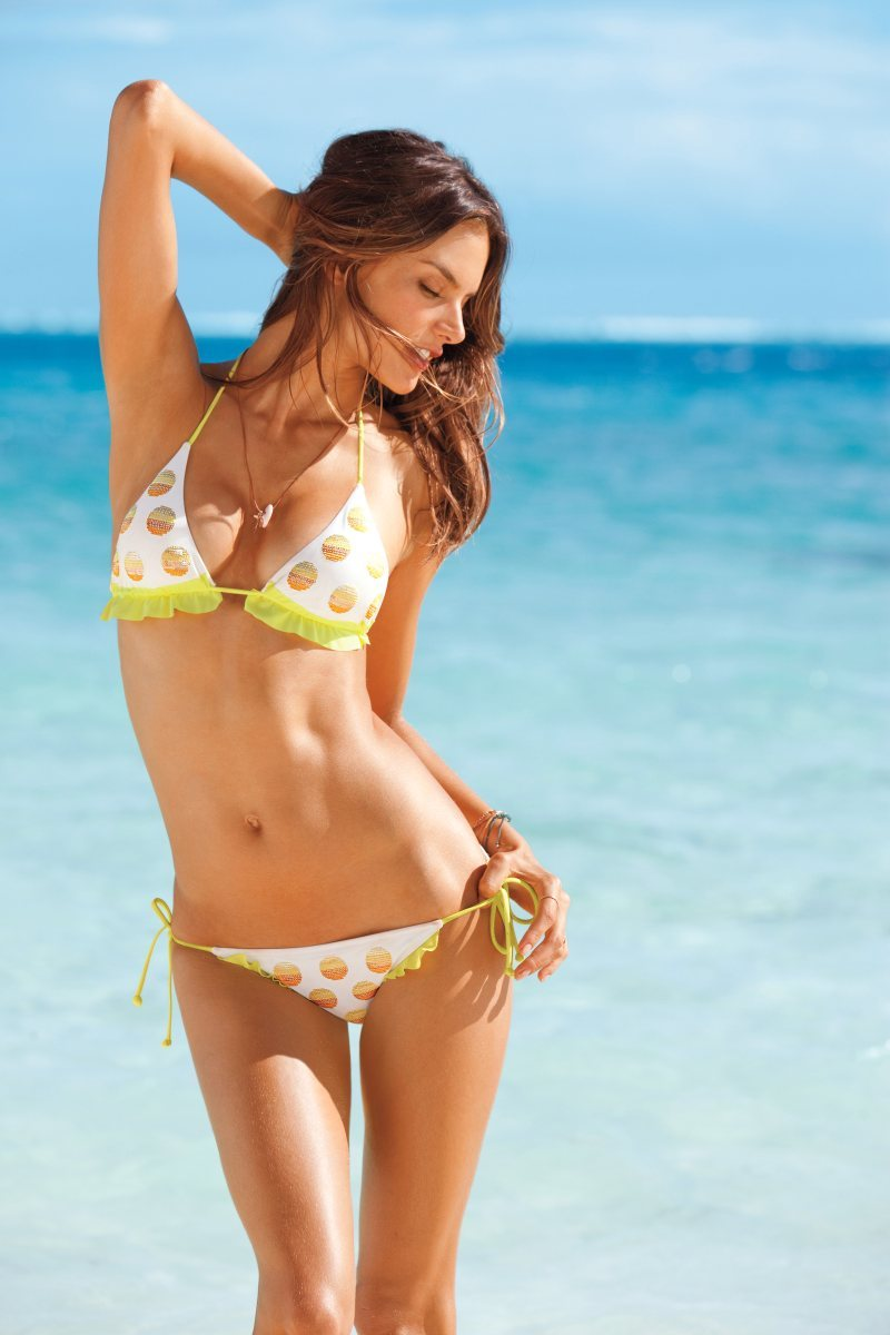 labellefabuleuse:  Alessandra Ambrosio for Victoria's Secret Swim 2012  She still looks great in 2012